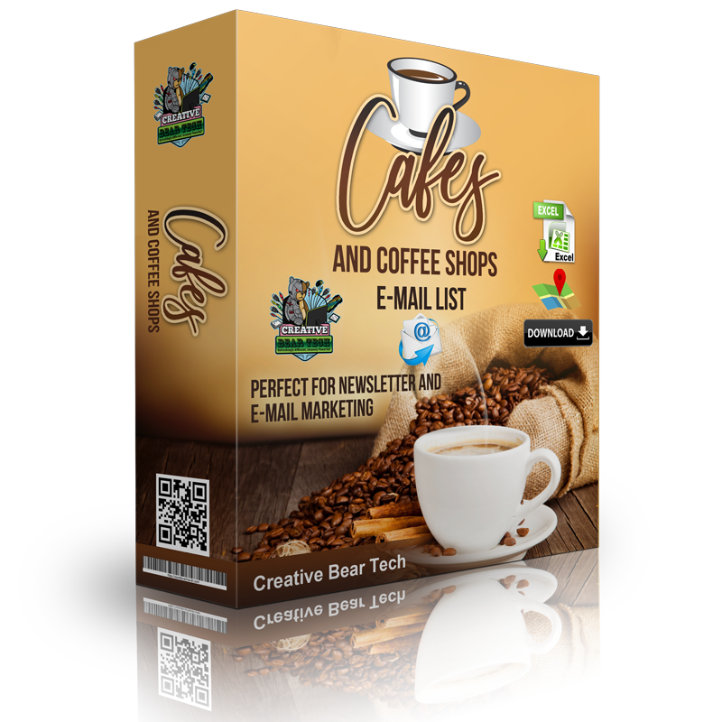 Cafes and Coffee Shops E-Mail List